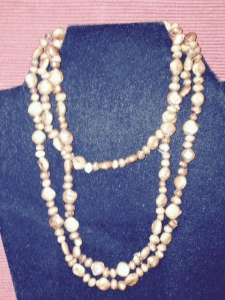 Necklace - brown stones