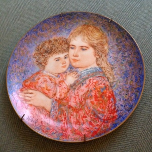 Edna Hibel Plate - Erica & Jamie 2
