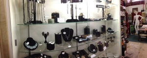Sherman Oaks Antique Mall - Partially Completed Set Up of  Our Vintage Jewelry Display