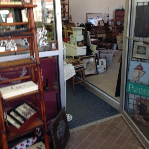 Looking into Heritage Collectibles from the Foyer - We Still Had Lots of Inventory to Move In