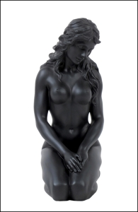 Description: Nude Female - 156(black) - Material - Poly Stone - Size - (h) 5 7/8 Condition: New - Polystone Definition - A medium used for Sculpture Casting. It is hard to find one that delivers a cleaner, more substantial representation of an original sculpture than a product manufactured in Polystone. Polystone has a weight that is very significant accompanied by a porcelain like feel to the touch, while capturing the most minute details, making it unsurpassed in collectible manufacturing material.