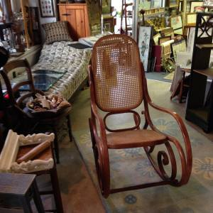 Bentwood rocker, fainting couch etc