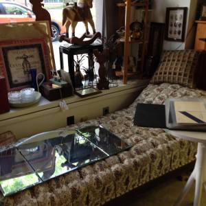 Fainting Couch and Vanity Mirror