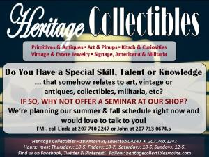 Looking for people interested in teaching small seminars, offering appraisals, etc.