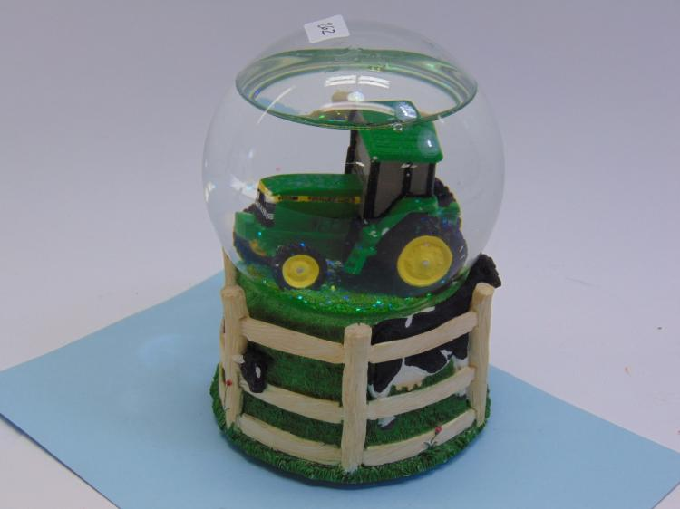John Deere Tractor Musical Snow Globe!
