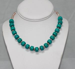 250.00CTW PHILIPPINE FRESHWATER PEARL AND BLUE TURQUOIS