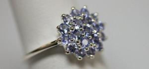 0.89 CTW TANZANITE RING .925 STERLING SILVER