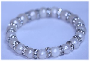 81.50 CTW WHITE PEARL AND CZ BRACELET