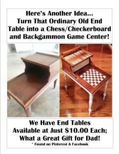 Here's another idea for repurposing an old side table - the internet is a wealth of ideas!