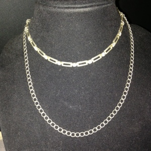 Choker - Two Strands with Rhinestones $22