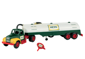 The older Hess toy trucks, such as this 1964 version, may still be worth investing in.