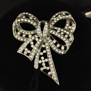 Joan Rivers Rhinestone Bow $45