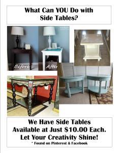 Repurposed Side Tables
