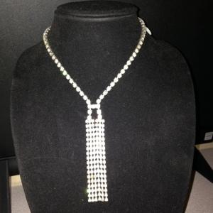 Rhinestone Necktie $65