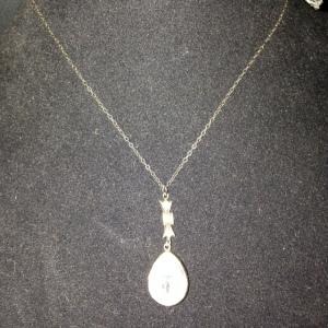 Teardrop Rhinestone Necklace $50