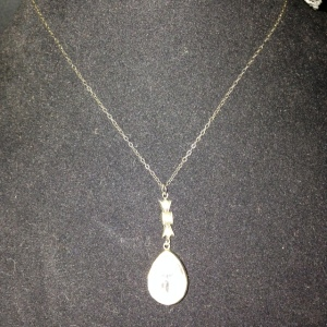 Teardrop Rhinestone Necklace $50