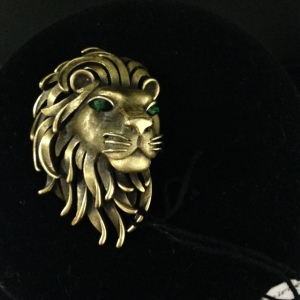 Trifari Lion's Head Pin $30 again