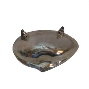 "Art Nouveau Metal Shell Ash Tray or Coin Holder. This Art Nouveau masterpiece is silver in color with normal vintage wear. You can use this as a ring/coin holder or an ash tray! Measures: 6""l x 4.25""w x 1.75""h!"