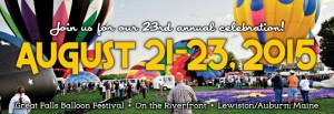 Helping Sponsor the 2015 Great Falls Balloon Festival!
