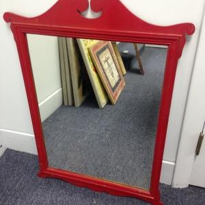 Vintage Red Mirror