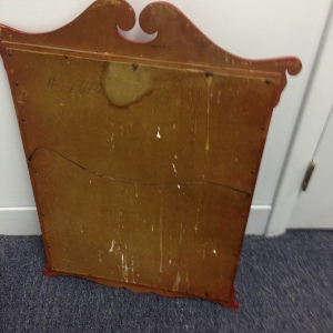 Back of Vintage Red Mirror