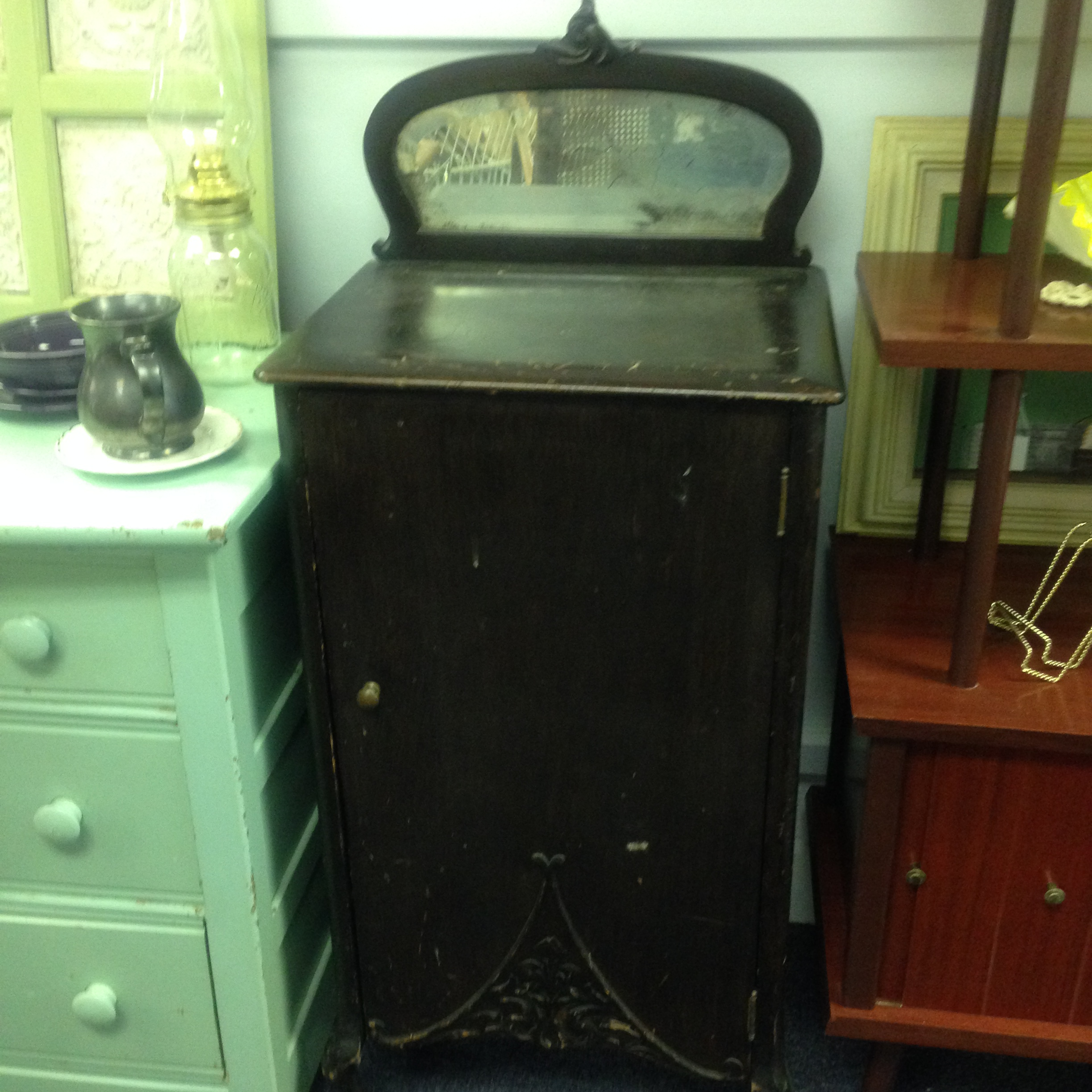 SOLD! Vintage Music Cabinet with Mirror! | Heritage Collectibles