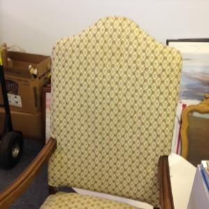 Chair, High Back - Yellow Upholstery - Detail of Front, 2nd