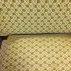 Chair, High Back - Yellow Upholstery - Detail of Upholstery