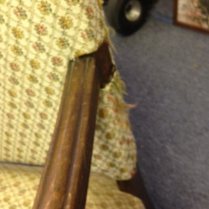 Chair, High Back - Yellow Upholstery - Minor Wear on Upholstery