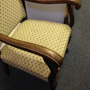 Chair, High Back - Yellow Upholstery - Side View, 2nd