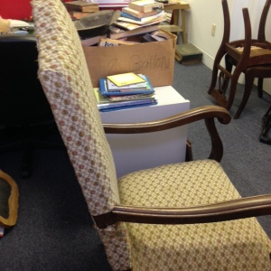 Chair, High Back - Yellow Upholstery - Side View