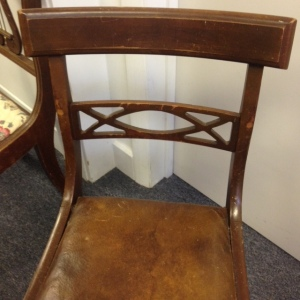 Chair, Leather Seat - Close Up, Back