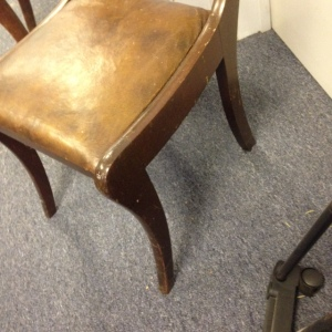 Chair, Leather Seat - Close Up