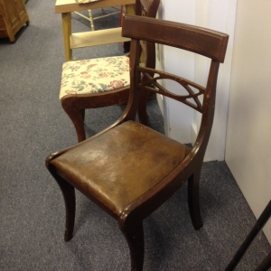 Chair, Leather Seat
