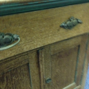 Chest, 2 Drawers & Cabinet - front close up