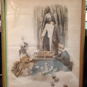 Vintage Cream of Wheat Ad, Framed - The Blocks Tell the Story