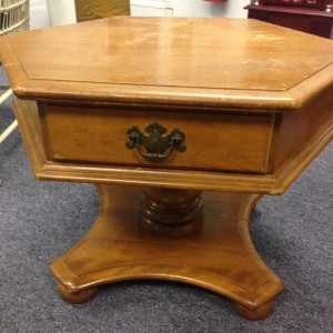 Ethan Allen Pedestal Coffee Table 2