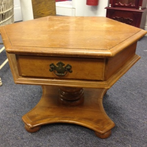 Ethan Allen Pedestal Coffee Table 3