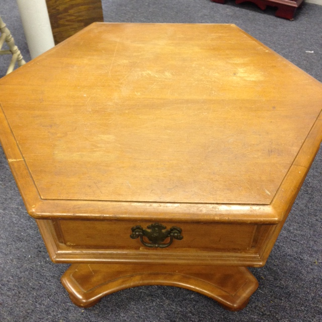 Ethan Allen Coffee Table With Drawers: SOLD! Pedestal Style Ethan Allen Coffee Table
