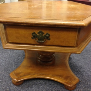Ethan Allen Pedestal Coffee Table