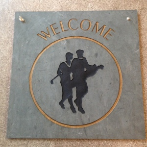 Golfer's Welcome Slate