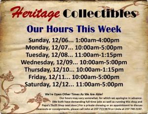 Hours - Week of 12 06 15