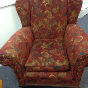 We just love this comfortable chair... it's perfect for curling up with a great book!