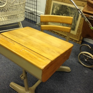 What a Great Old School Desk... It's in Practically Perfect Condition!