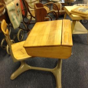 Practically Pristine Antique School Desk