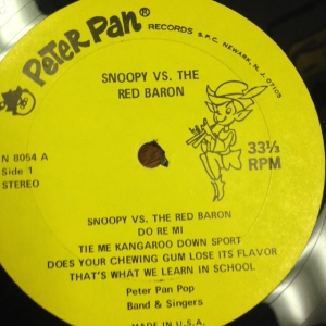 Snoopy vs Red Baron Record Side 1