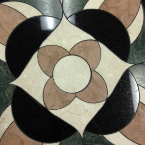 Tile Table, Close Up of Center