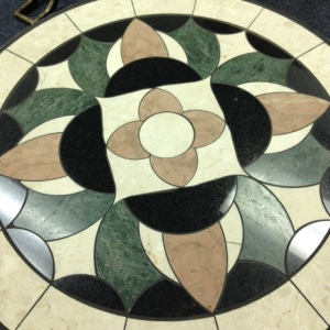 Tile Table, Close Up of Top
