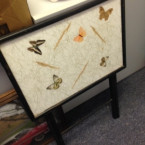 TV Tray - Butterfly Pattern - Folded