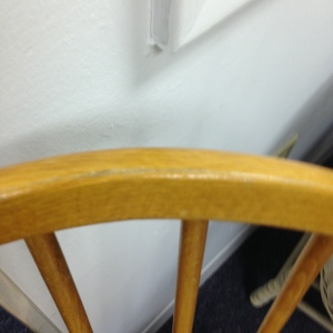 Windsor Chairs - The Spindles of the One on The Right Do Not Come Through